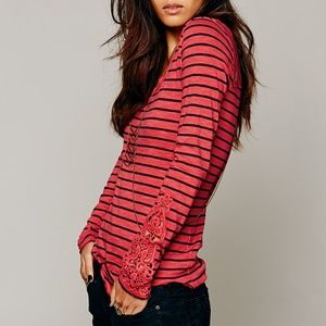 FREE PEOPLE STRIPED HARD CANDY TOP